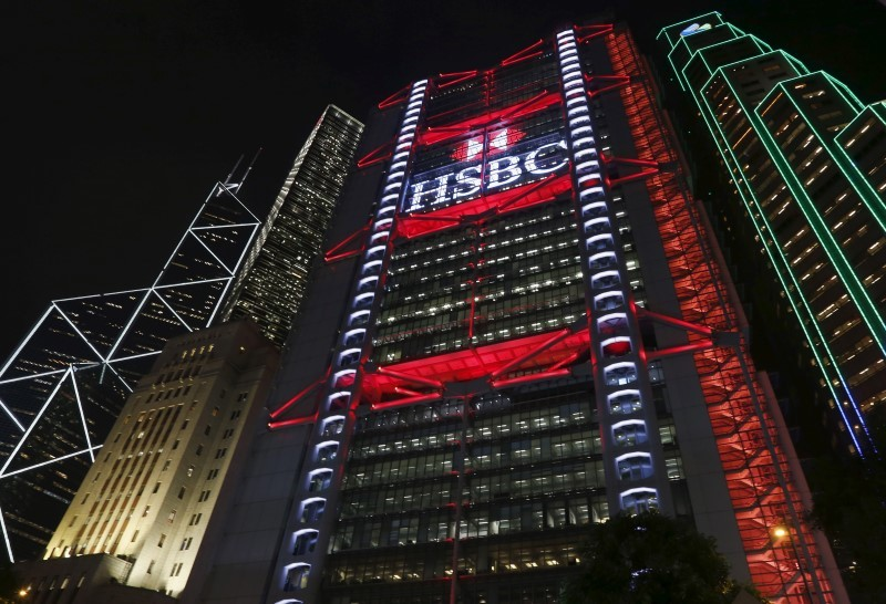 An exterior view of the HSBC headquarters at the financial Central district in Hong Kong November 3, 2015. REUTERS/Bobby Yip