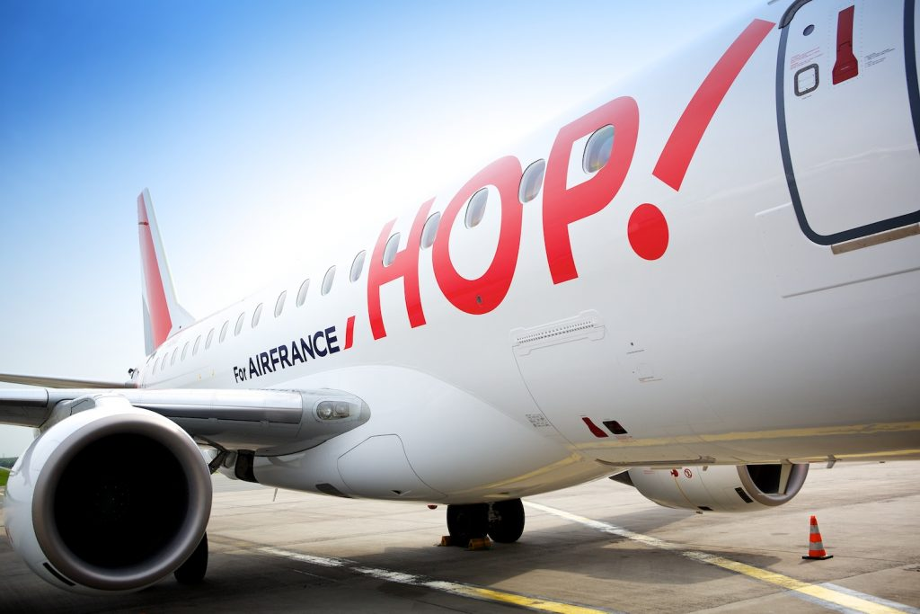 les vols de la compagnie low cost hop! de air france