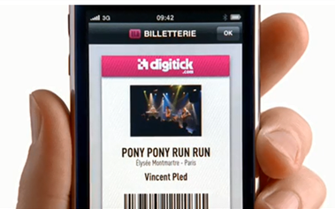 l'application digitick pour reserver en ligne son billet