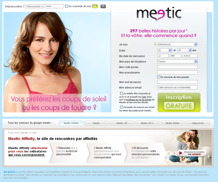 creer et modifier son profilsur meetic