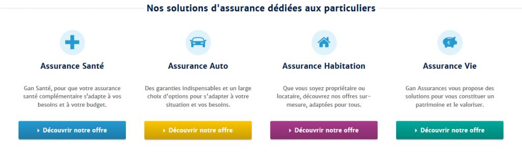 Découvrir les offres disponible sur le site de Gan Assurances et en appelant le service client Gan