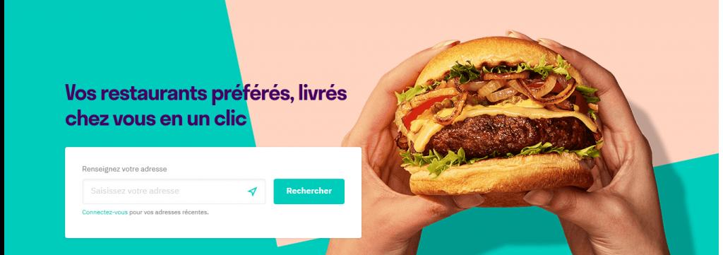 commander un repas depuis l'interface en ligne delivroo